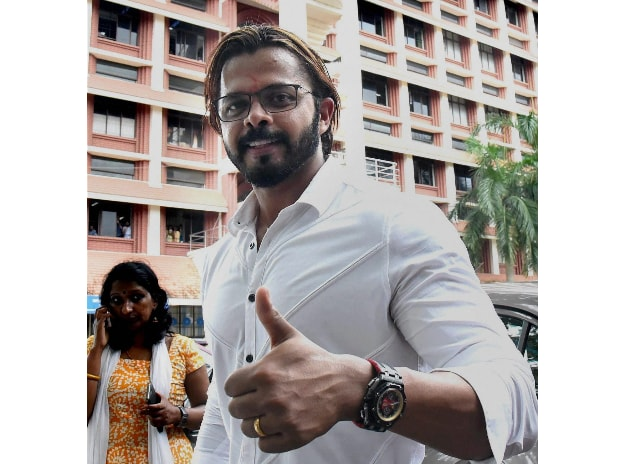 Cricketer S Sreesanth at the Kerala High Court in Kochi on Monday. (Photol: PTI)
