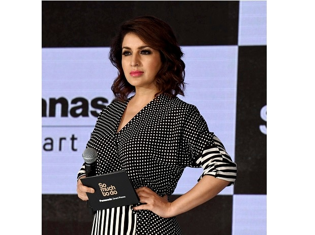 Bollywood actress Tisca Chopra at the launch of Panasonic A3 pro smartphone in New Delhi on Wednesday. Photo: PTI