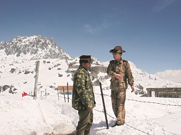 The issue began in June when Chinese forces were spotted constructing a road with heavy equipment in Doklam. (File photo: PTI)