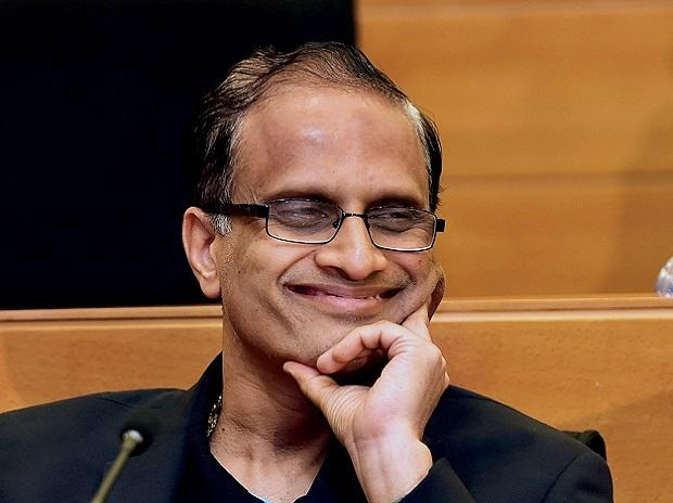 Newly appointed interim Infosys CEO U B Pravin Rao in Bengaluru on Friday. Photo: PTI