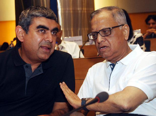 Vishal Sikka, Narayana Murthy