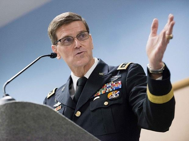 General Votel, Top US commander. Photo: Twitter