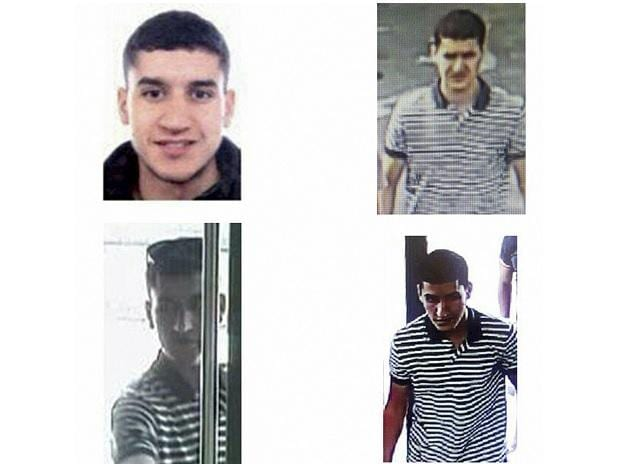 A composite image of suspect Younes Abouyaaqoub, released by the Spanish Interior Ministry on Monday. Photo: AP | PTI