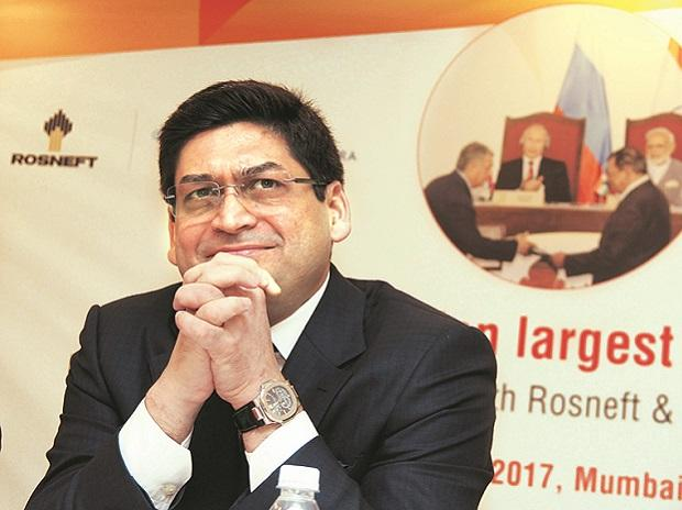 Prashant Ruia, Director, Essar group, at a press conference in Mumbai on Monday