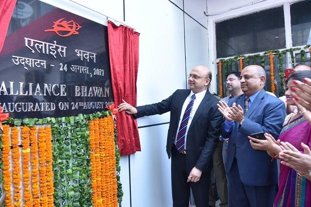 AirIndia CMD Shri Rajiv Bansal inaugurated #AllianceAirBhawan at Terminal 1, IGI Airport New Delhi on Thursday. Photo: Twitter