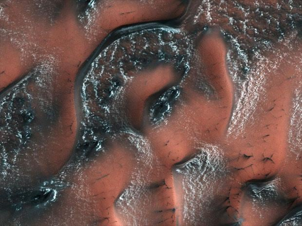 In pics: Stunning images of snowy dunes on Mars captured by Nasa