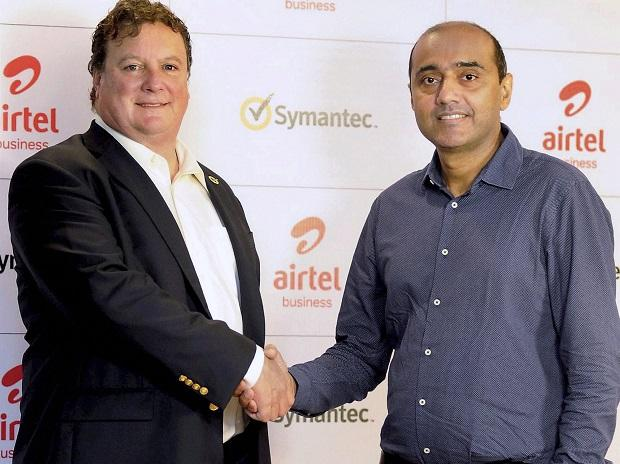 Airtel, Symantec, Symantec CEO Greg Clark with Bharti Airtel MD and CEO Gopal Vittal