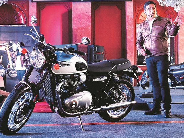 Triumph Motorcycles India Managing Director Vimal Sumbly at the launch of the Bonneville in New Delhi