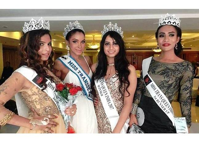 The winners of the trans-beauty pageant. Nitasha Biswas is third from Left. Photo: Twitter