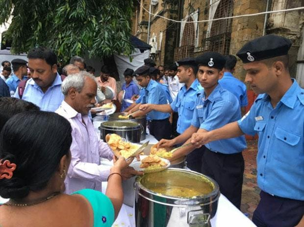 Mumbai rains: Indian Navy opens food counters for stranded commuters