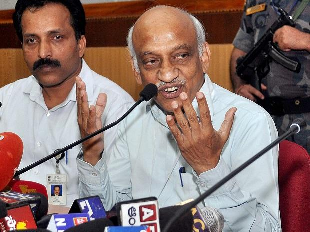ISRO chairman A S Kiran Kumar addressing the media after the launch of the navigation satellite IRNSS-1H mission was unsuccessful. Photo: PTI