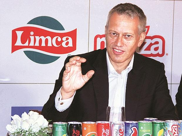Coca-Cola Global CEO James Quincey at a press meet in Mumbai on Thursday. Photo: Kamlesh Pednekar