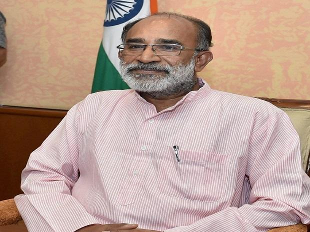 Alphons Kannanthanam, the new Minister of State (Independent charge) before taking  charge of his office in New Delhi. Photo: PTI