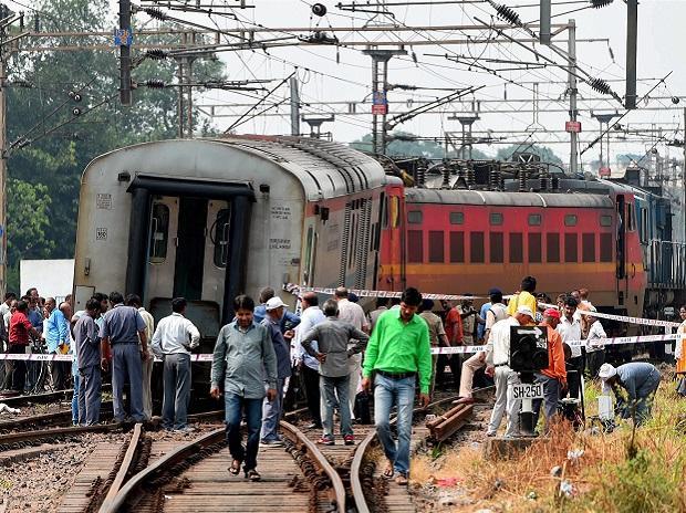 Delhi-Ranchi Rajdhani Express train derailed