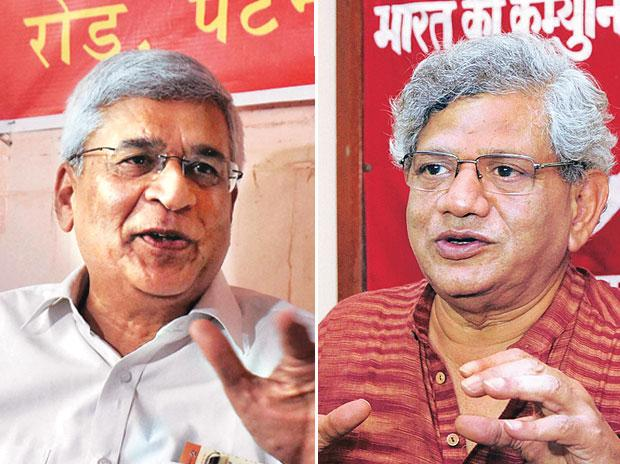 CPI(M) sees conflict between Yechury, Karat factions