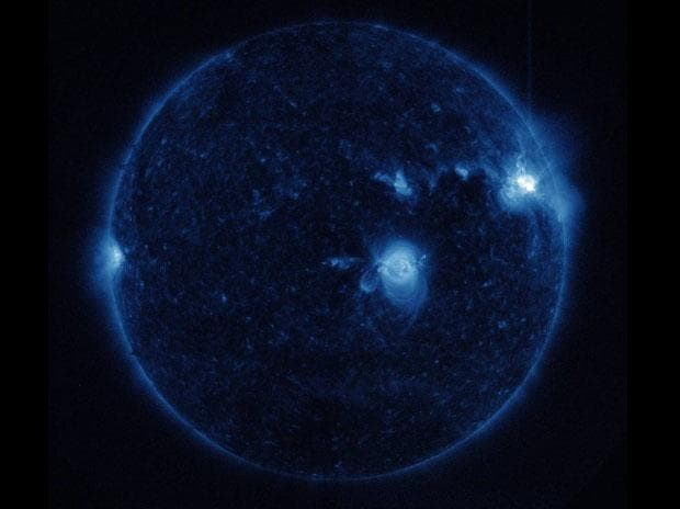 In pics: Nasa captures the brightest solar flare in over a decade