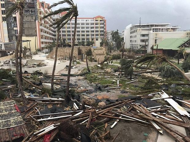 Northern Caribbean : This Sept. 6, 2017 photo shows storm damage in the aftermath of Hurricane Irma in St. Martin. Irma cut a path of devastation across the northern Caribbean, leaving thousands homeless after destroying buildings and uprooting tree