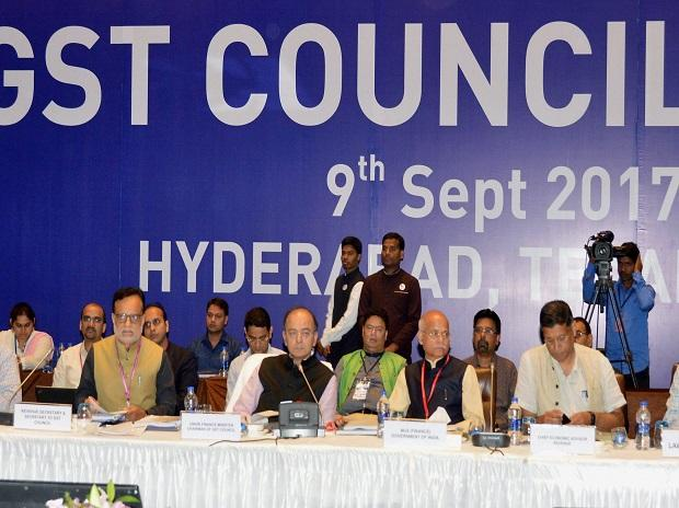 Hyderabad: Minister of Corporate Affairs Arun Jaitley at the 21st GST Council meet in Hyderabad on Saturday. PTI Photo