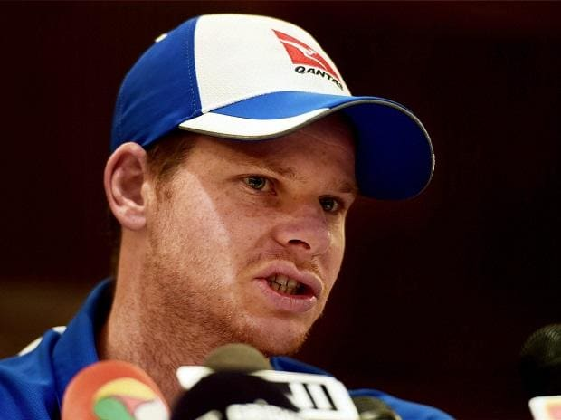 Australian cricket team captain Steve Smith addressing the media in Chennai on Sunday. Photo: PTI
