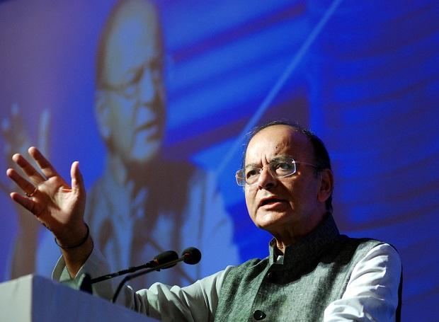 Arun Jaitley at the Conclave on Financial Inclusion by United Nations in New Delhi. Photo: Dalip Kumar