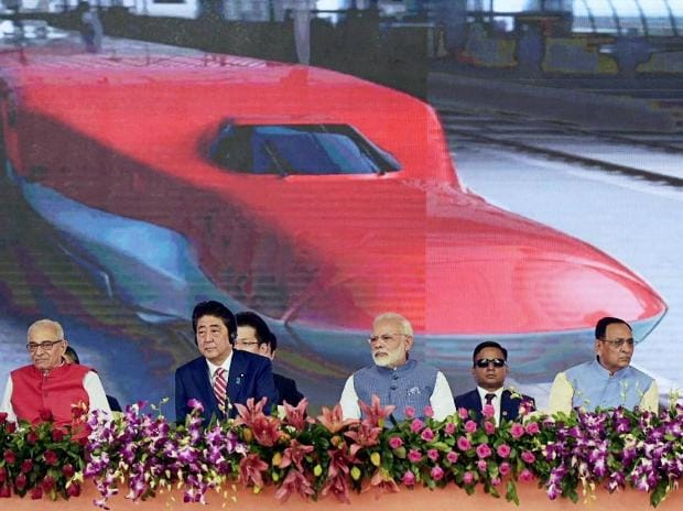Narendra Modi, Shinzo Abe, High Speed Rail Project, Bullet Train, Ahmedabad