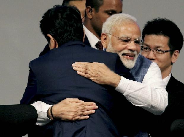 Narendra Modi, Shinzo Abe, India-Japan Annual Summit, greets