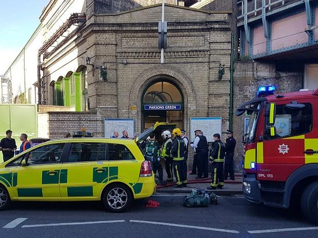Emergency services outside Parsons Green. Photo: Reuters