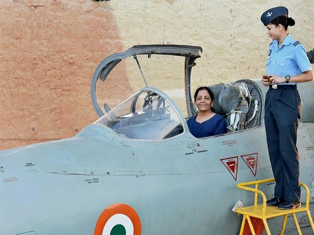Defence Minister Sitharaman flies Sukhoi fighter jet
