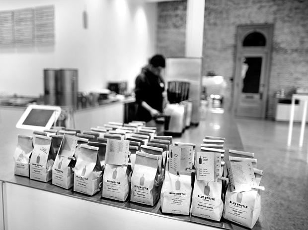 A Blue Bottle Coffee store in Los Angeles, California. Its founder recently sold the majority stake to Nestle. Photo: Reuters