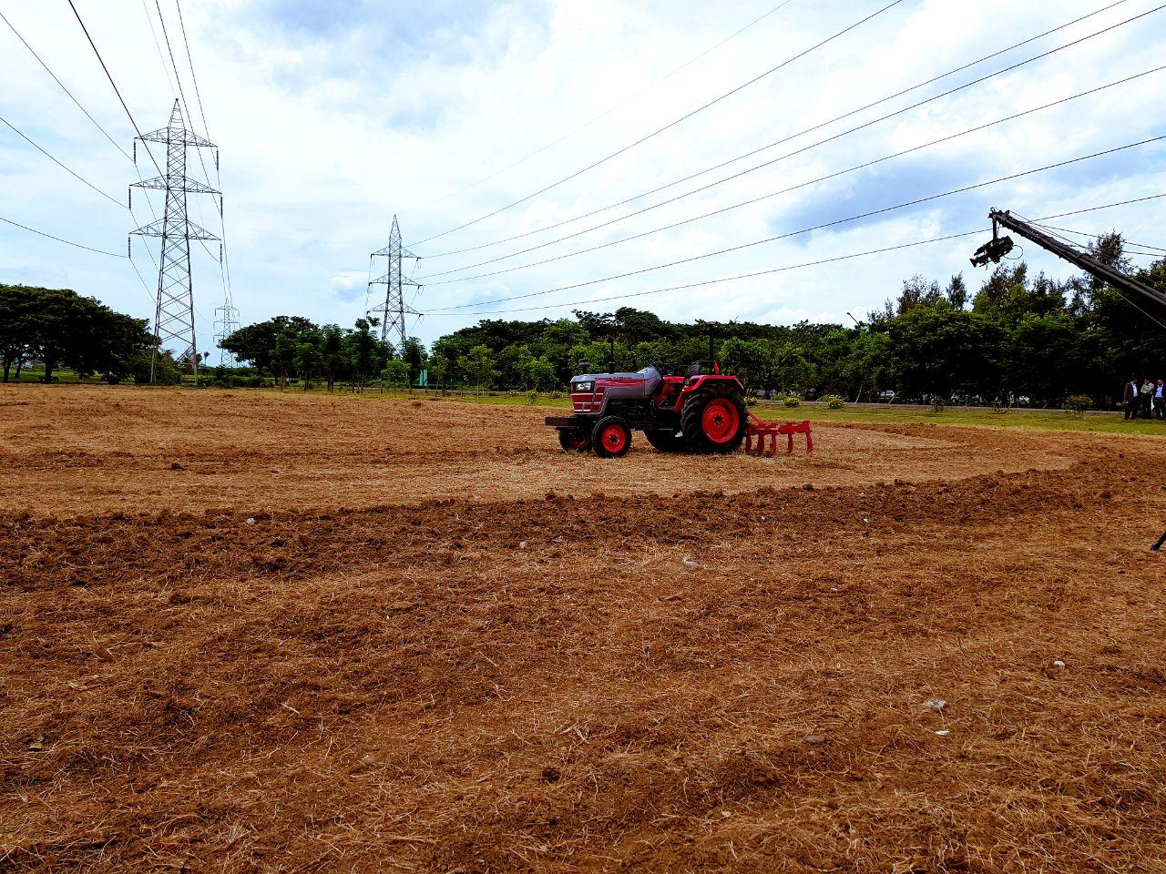 Mahindra showcases the driverless tractor
