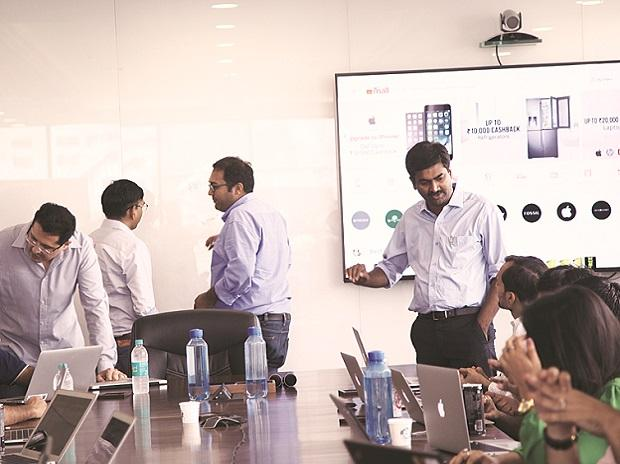 A look inside the war room of Paytm Mall. Amit Sinha, COO, Paytm Mall, with his team. Photo: Paytm