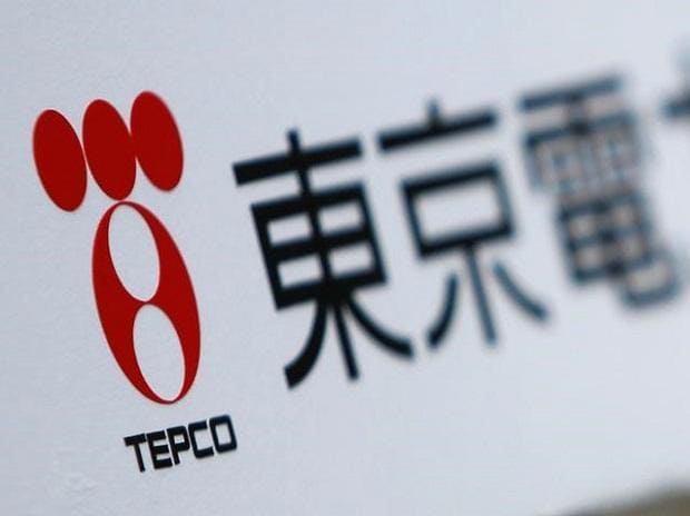 A Tokyo Electric Power Co (TEPCO) logo is pictured on a sign. Photo: Reuters