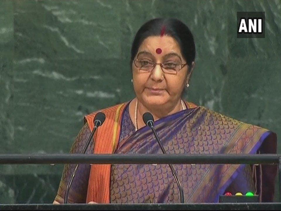 Sushma Swaraj at UNGA
