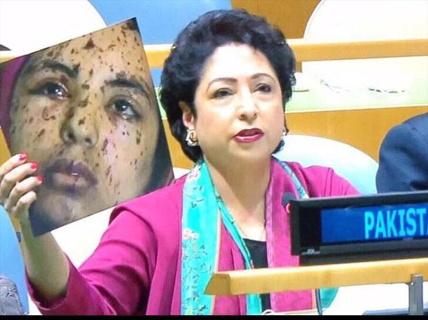 Maleeha Lodhi, Pakistan's permanent representative to the UN was responding to Sushma Swaraj's attack on Pakistan at the United Nations General Assembly.(Twitter Photo)