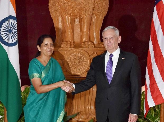 File photo of Defence Minister Nirmala Sitharaman welcomes US Defence Secretary Jim Mattis at South Block in New Delhi. (Photo: PTI)