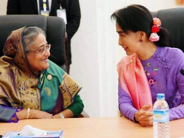 Sheikh Hasina, Aung San Suu Kyi