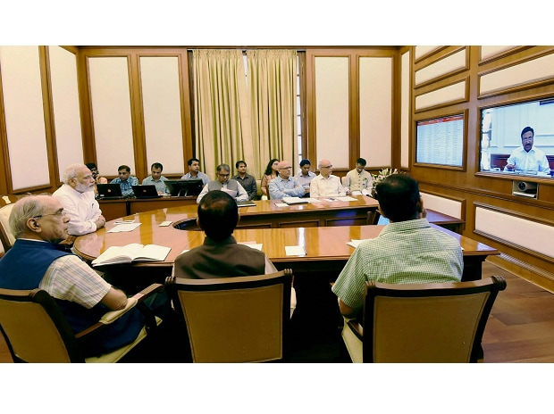 Prime Minister Narendra Modi chairing 22nd interaction through PRAGATI - the ICT-based, multi-modal platform for Pro-Active Governance and Timely Implementation, in New Delhi. (Photo: PTI)