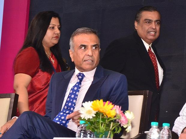 Sunil Bharti Mittal, founder & chairman of Bharti Enterprises and Mukesh Ambani,Chairman Reliance Industry Ltd at India Mobile Congress 2017. (Photo: Sanjay K Sharma)