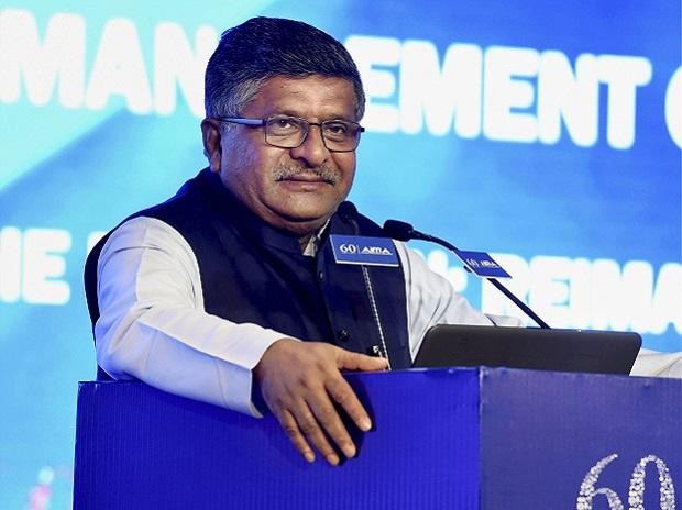 Union Law Minister Ravi Shankar Prasad speaks at the 60th Foundation Day function of AIMA, in New Delhi. (Photo: PTI)