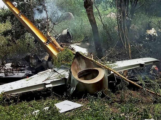 An Indian Air Force trainee aircraft crashes in Keesara under Cyberabad Police commissionerate of Hyderabad. Photo: PTI