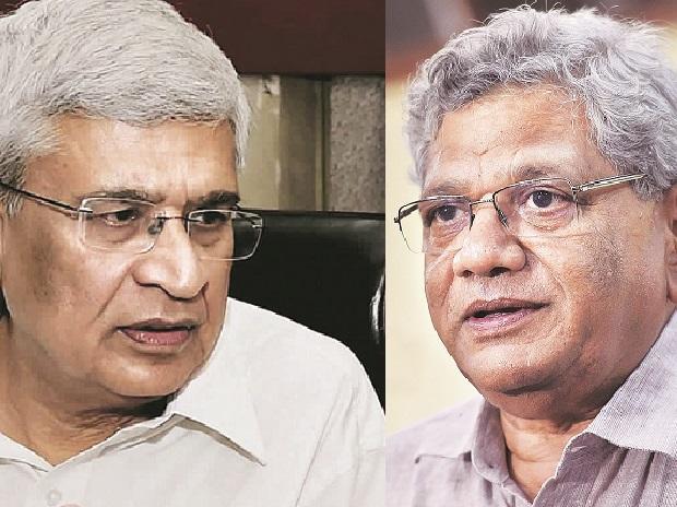 Prakash Karat (left); Sitaram Yechury