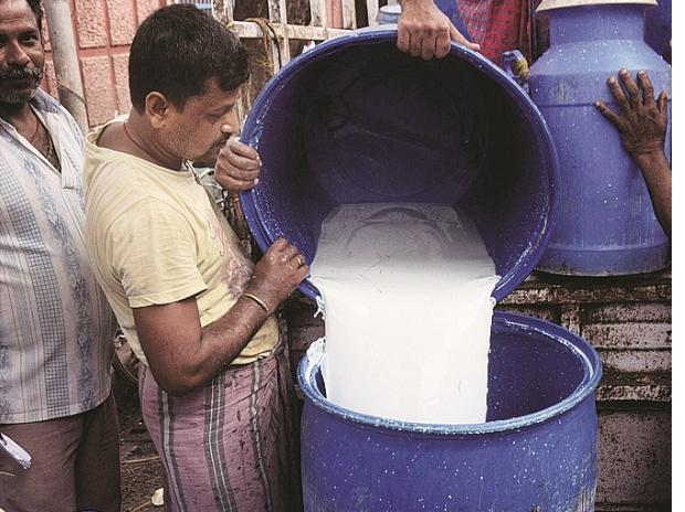 Dairies have reduced procurement prices by Rs 3 a litre in three stages to offer it at Rs 24 a litre to farmers