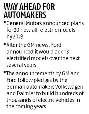 GM, Ford to expand electric models