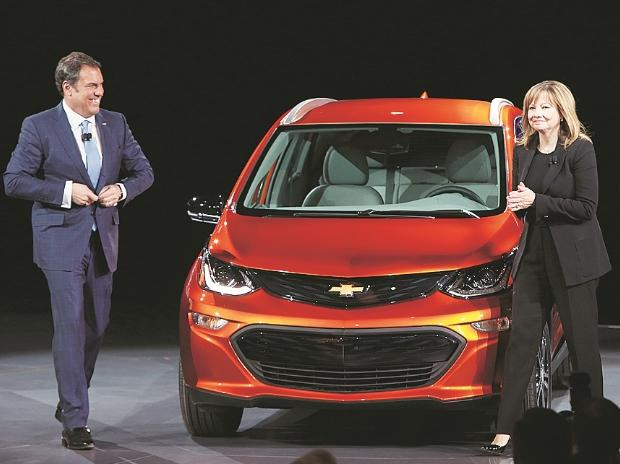 America's largest automaker General Motors took the lead by outlining a fundamental shift in its vision of the industry just before Ford's presentation on electric models	photo: reuters