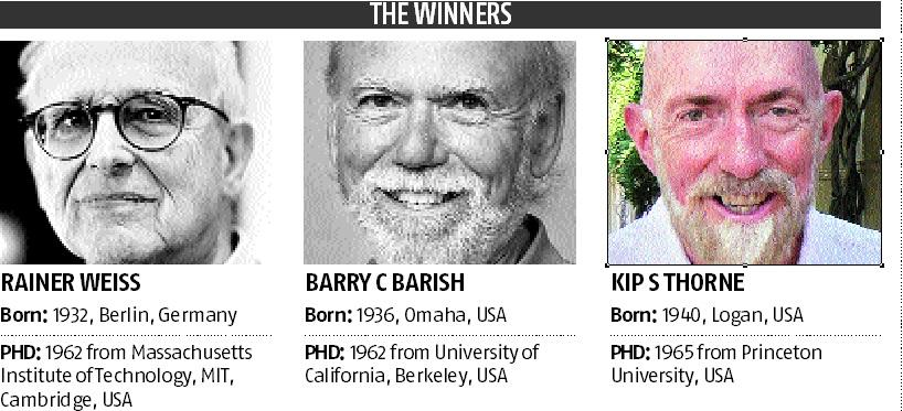 Gravitational wave pioneers win Nobel prize for physics