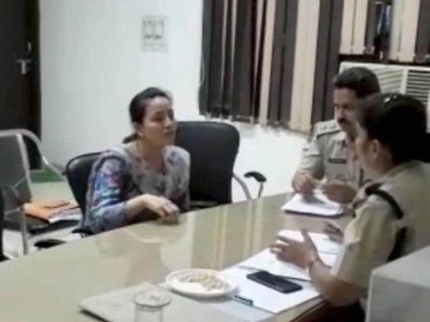 Honeypreet was arrested from the Zirkapur-Patiala highway in Punjab while travelling in a Toyota Innova, at Haryana Police Station on Tuesday night. Photo: PTI