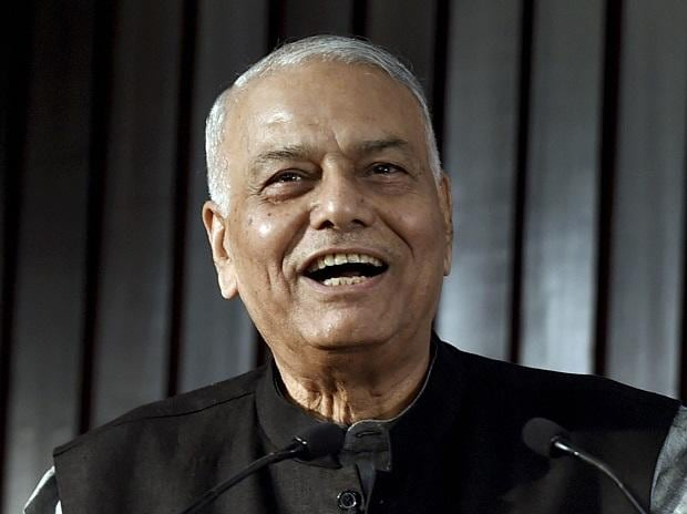BJP veteran Yashwant Sinha speaks at the release of Congress leader & former union minister Manish Tewari's book