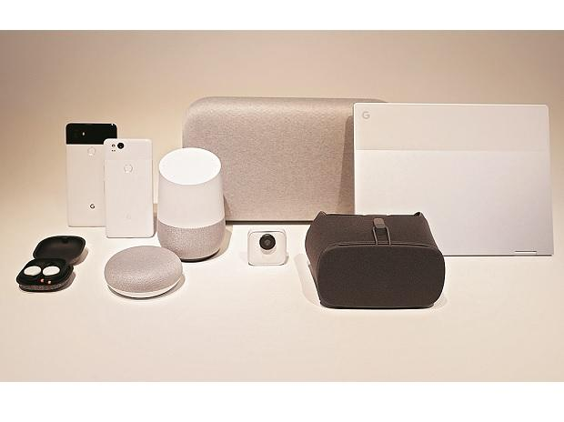 Google hardware products displayed during a launch event in San Francisco, California 	photo: reuters
