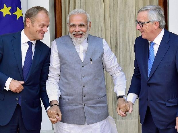 Narendra Modi, Donald Franciszek Tusk, Jean-Claude Juncker