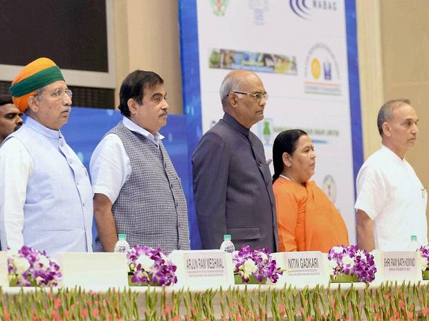 President Ram Nath Kovind during the inauguration of the India Water Week-2017 at a function in Vigyan Bhavan. Photo: PTI